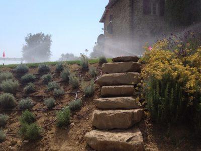 impianti irrigazione sopra il muro