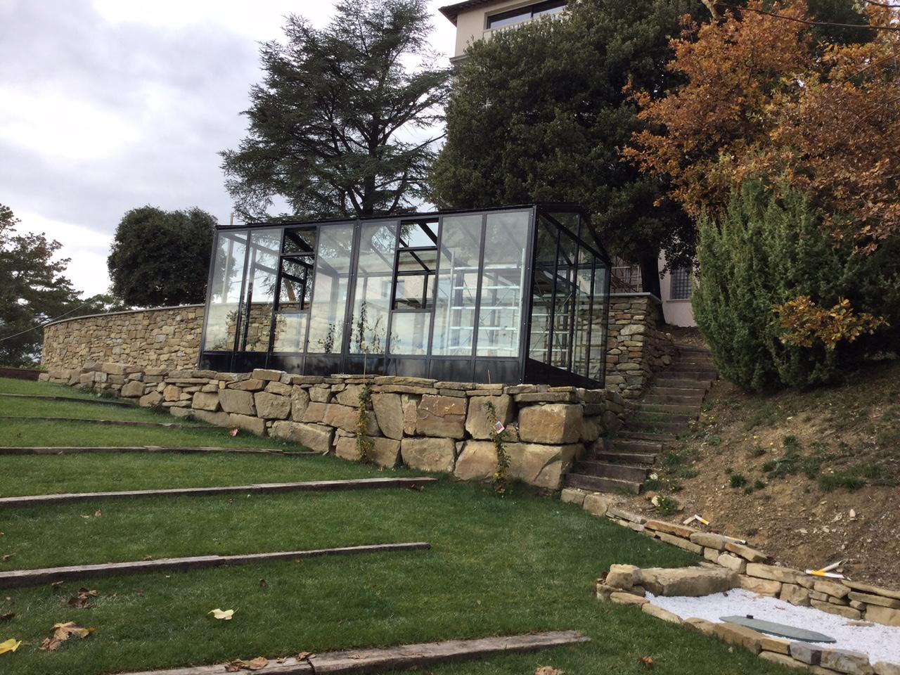 I nostri lavori giardino d 39 inverno e serra sopra il muro - Giardino d inverno permessi ...