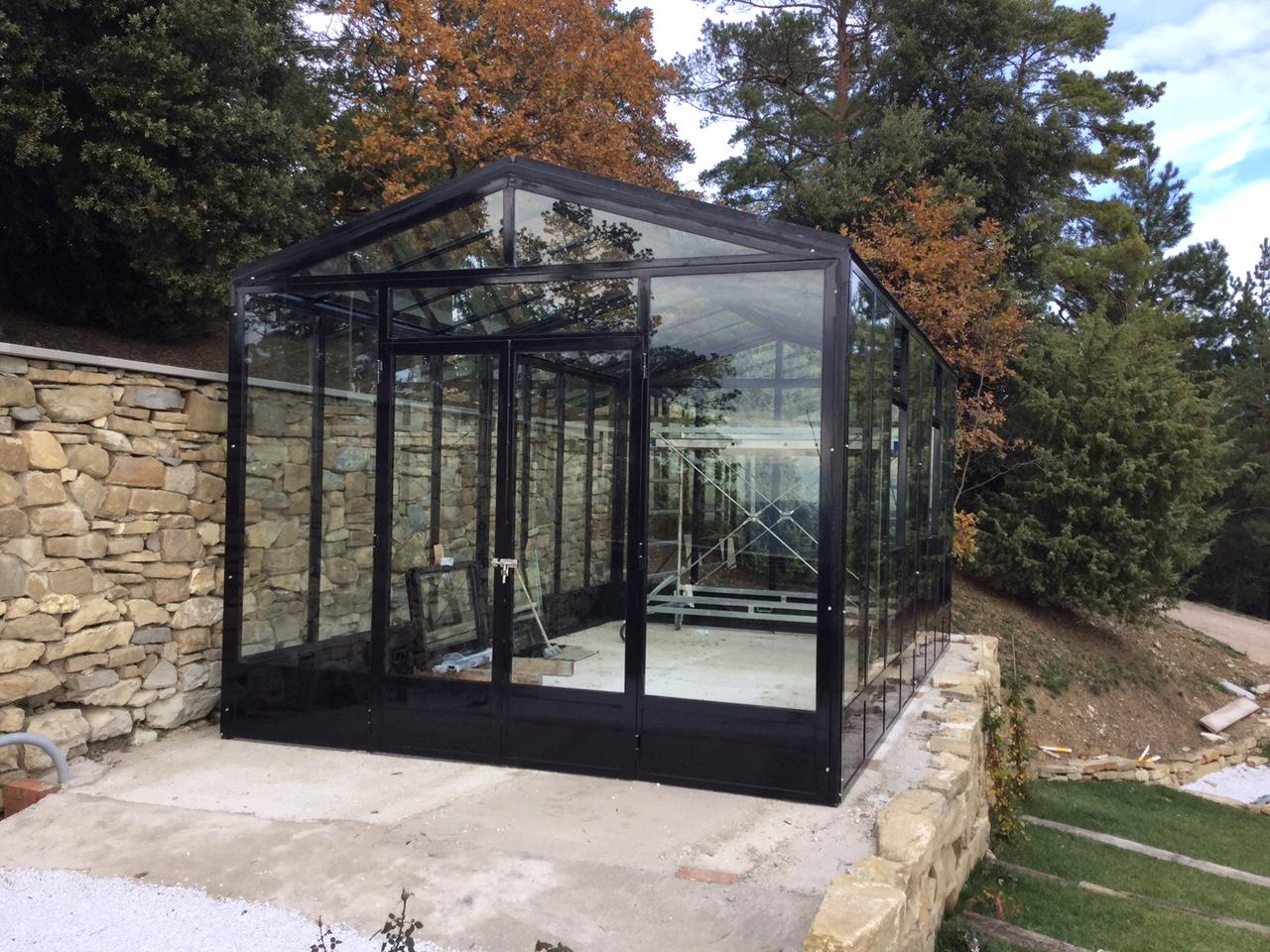I nostri lavori giardino d 39 inverno e serra sopra il muro - Giardino d inverno normativa ...